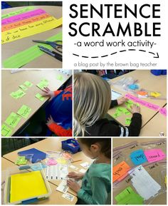 Great idea for Word Work. Sentence Scramble is perfect for Daily 5 and easy to differentiate reading centers! The Brown Bag Teacher
