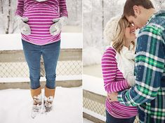 Winter maternity photo ideas. Love these for our Jackson session.