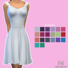 Ashley Dress Collection at Simista via Sims 4 Updates