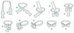 Learn how to tie the Bow Tie - http://www.ties.com/how-to-tie-a-tie/bow-tie via @Ties.com®