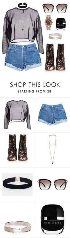 """""""""""The great events of the world take place in the brain..."""" Oscar Wilde"""" by zeineb-ayachi ❤ liked on Polyvore featuring Yves Saint Laurent, Levi's, Givenchy, ASOS, Miu Miu, Hermès, Marc Jacobs and Rolex"""