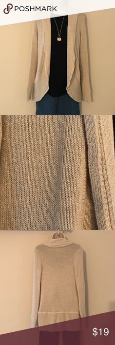 WHBM Gold Sparkle Cardigan Sparkle and shine with this gold WHBM sweater. Gently used. See measurement pics against white background for truest color. Bundle and save! White House Black Market Sweaters Cardigans