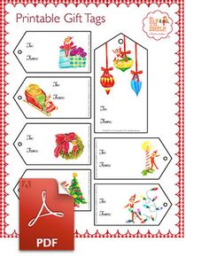 Elf on the Shelf > North Pole > Christmas Tree > Santa's Gift Tags > Christmas Printable Gift Tags
