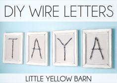 DIY Wire Letters Tut