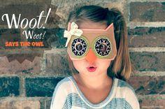 DIY Owl Mask = Adorable #owl #kids #summer crafts #awesome #original #fun # Halloween Diy Kostüm, Halloween Masks, Halloween Photos, Projects For Kids, Diy For Kids, Cool Kids, Kids Crafts, Party Crafts, Felt Projects
