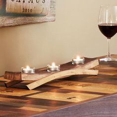 I loved this Barrel Stave Cand... Now available in our store. Check it out here! http://www.letswinealittle.com/products/barrel-stave-candle-holder