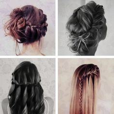 Hair, hair and more hair Best Wedding Hairstyles, Pretty Hairstyles, Braided Hairstyles, Glam Hairstyles, Beautiful Braids, Pretty Braids, Beautiful Beautiful, About Hair, Braid Styles