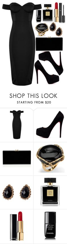 """""""Untitled #4675"""" by natalyasidunova ❤ liked on Polyvore featuring Palm Beach Jewelry, Adele Marie, Avon and Chanel"""