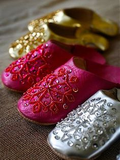 SEQUIN LEATHER BABOUCHE SLIPPERS