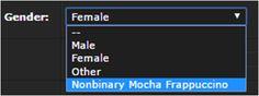 """naegifricker: """" reblog if you are a nonbinary mocha frappuccino """""""