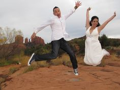 "It's not the ""jumping for joy"" although it should be called that for all of our wedding packages... check em all out here: http://www.sedonadestinationweddings.com/sedona-wedding-packages/"