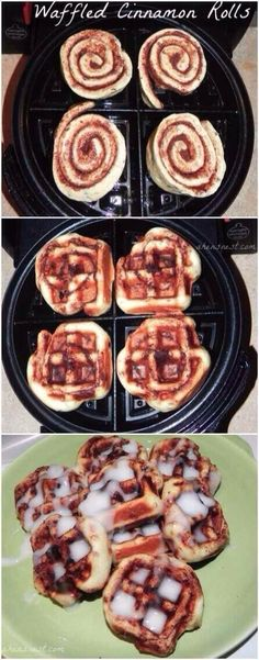 Yum! I like waffles and cinnamon rolls, this is the best of both worlds!!