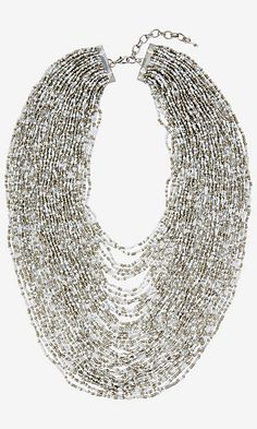 MULTI STRAND NESTED SEED BEAD NECKLACE