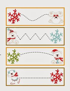 penguins trace the line Christmas Worksheets, Christmas Activities For Kids, Winter Crafts For Kids, Winter Activities, Christmas Crafts, Printable Preschool Worksheets, Preschool Learning Activities, Preschool Crafts, English Worksheets For Kids
