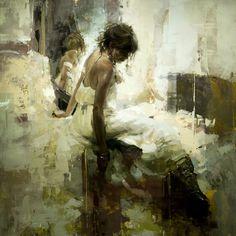 """Artist - Jeremy Mann  """"Fawn"""" 36 x 36 in. Oil on Panel 2014"""
