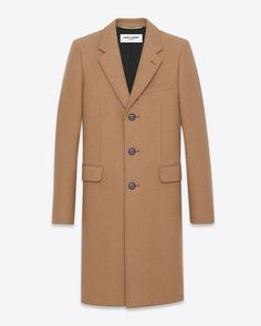 saintlaurent, Classic Chesterfield Coat in Natural compact CAMEL Hair