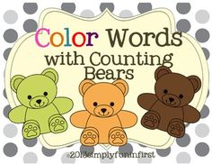 Colorful counting bear cards and color word cards included in this simple match-up activity. Use for a color and word match-up in a pocket chart or on the carpet. Use as a memory game--just print 2 sets of the color bears.If you enjoy this freebie, please check out my Math with Counting Bears unitMath with Counting BearsThanks for looking!Simply Fun in First