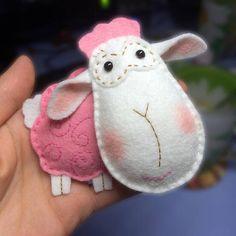 Felt Sheep Sheep Pattern Felt Pattern Felt Sheep Pattern