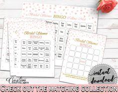 Bingo Bridal Shower Bingo Pink And Gold Bridal Shower Bingo Bridal Shower Pink And Gold Bingo Pink Gold - XZCNH #bridalshower #bride-to-be #bridetobe