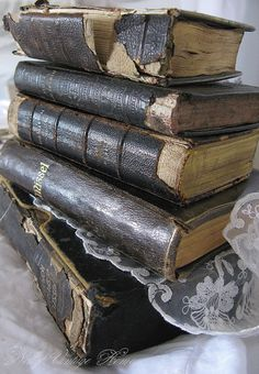 lace and vintage books