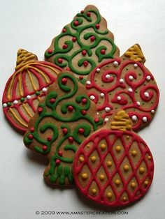 ornaments and trees