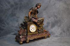 Zegar kominkowy L & F Moreau.Francja XIX w.