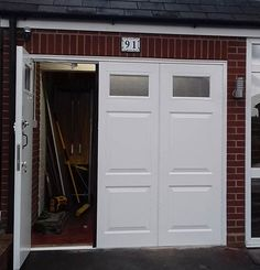 Side Hinged Garage Doors Installation and Supply for Self-Install, B & L Roller Shutters & Garage Doors West Midlands