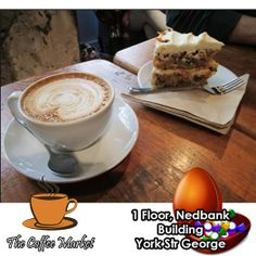Spoil yourself everyday between 15h00 and 17h00 at the Coffee Market with a piece of Cake and a cup of filtered coffee for only R20.00. Don't forget to order your weekend platters for the rugby this weekend. #cuisine #specialoffers #coffeeshop