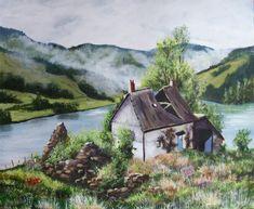 Artwork Display, Acrylic Art, Cottage, Kit, Frame, Painting, Picture Frame, Painting Art, Cottages