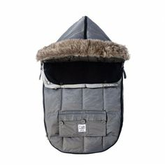 $115-$155 Le Sac Igloo Gray: Premium fiber insulation and a soft cotton lining provide ultimate comfort to even the youngest users