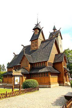 Vang stave church (Polish: Świątynia Wang; Norwegian: Vang stavkyrkje; German…