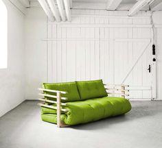 Canapé convertible Karup vert