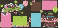 1st Birthday-Girl Page Kit