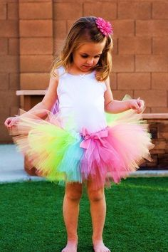 Oh to be a little girl again and wear a rainbow tutu! Flower girls would just look fab in this, plus wonderful for their dressing up box afterwards. Flower Girls, Flower Girl Dresses, Rainbow Wedding Dress, Rainbow Tutu, Rainbow Dance, Rainbow Pastel, Rainbow Brite, Rainbow Colors, 1st Birthday Girls