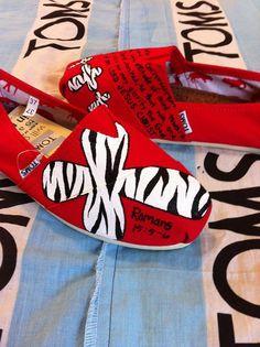 Custom Hand Painted Toms by BekasBargains on Etsy, $80.00