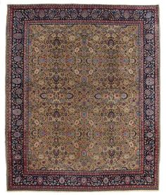 VAN-HAM Kunstauktionen Mashad-Turkbaff.  2nd quarter of 20th C. 430 x 364cm.