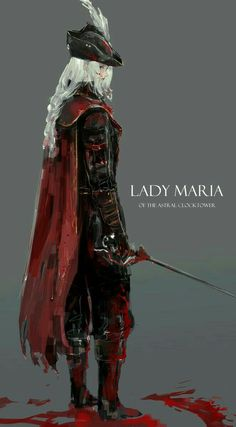 I still can't believe that bloodborne is already 4 years old,it felt like only yesterday this game was released Lady Mary, Fantasy Character Design, Character Concept, Character Art, Fantasy Inspiration, Character Inspiration, Fantasy Characters, Female Characters, Art And Illustration