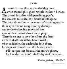 Great Halloween sonnet from Pop Sonnets