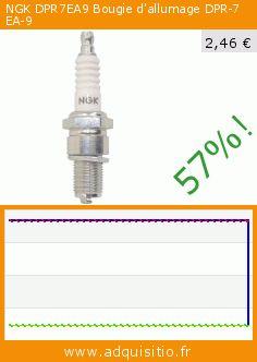 NGK DPR7EA9 Bougie d'allumage DPR-7 EA-9 (Automotive). Réduction de 57%! Prix actuel 2,46 €, l'ancien prix était de 5,68 €. http://www.adquisitio.fr/ngk/dpr7ea9-bougie-dallumage