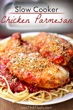 Are you looking for the BEST recipe for chicken parmesan? This recipe is better than any one I've had at a restaurant - made with homemade sauce and all!
