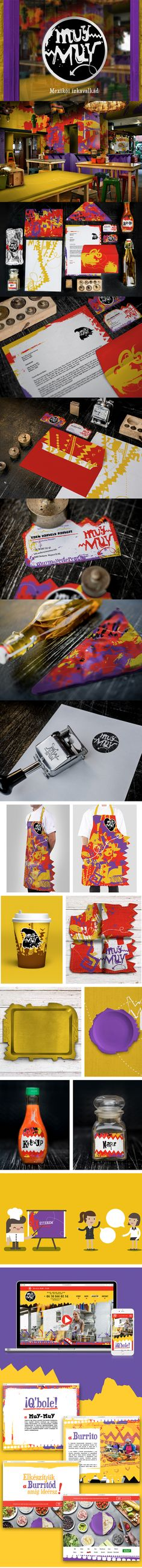 Restaurant Branding, Brand Packaging, Brand Identity, Artsy, Mexican, Behance, Colorful, Drawing, Interior Design
