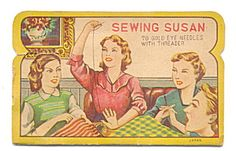 I love vintage needle books.  If the needles are rusted, replace them with your own