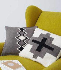 Aztec Cushions in Debbie Bliss Rialto DK | Black Sheep Wools