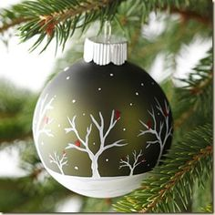 Love Where You Live: DIY painted glass ornaments