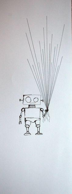 Robot Fingerprint Guest Book