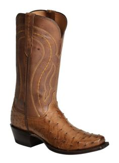 Lucchese Handcrafted 1883 Full Quill Ostrich Western Boots - Square Toe available at #Sheplers