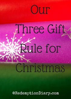 Our gift giving rule for Christmas may not be the same as yours. Sometimes less is so much more.
