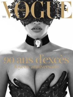 vogue paris: 90th anniversary issue. Lara stone it is but obvious :)