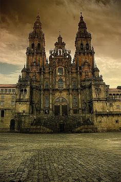 Santiago de Compostela, Spain Santiago de Compostela is the capital of northwest Spain's Galicia region and the cathedral is the burial site of St. James who is the patron saint of Spain Places Around The World, Oh The Places You'll Go, Places To Travel, Places To Visit, Around The Worlds, Beautiful Buildings, Beautiful Places, Beautiful Fairies, Beautiful Scenery