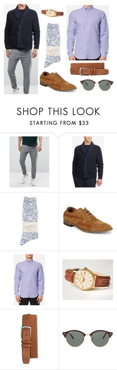 """""""PAULC - Bombfell"""" by cavaluzzip ❤ liked on Polyvore featuring SELECTED, Polo Ralph Lauren, Anonymousism, Bacco Bucci, Mezlan, Ray-Ban, men's fashion and menswear"""